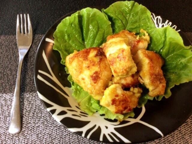 鶏むねカレーチーズのKFC風チキンステーキ(糖質9.3g)