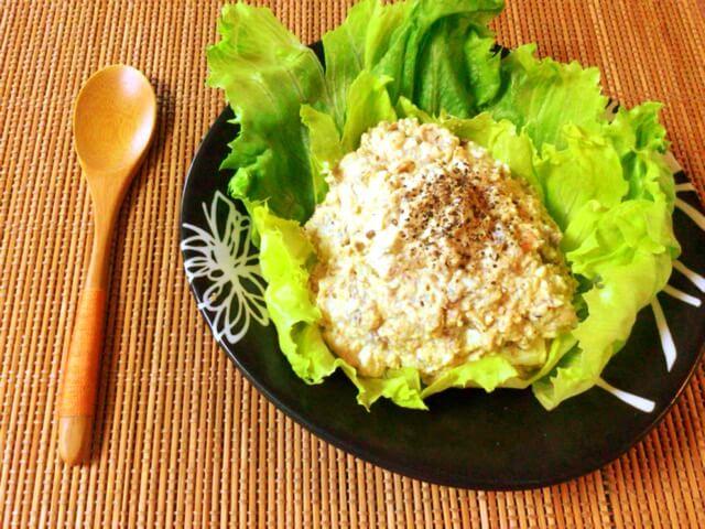 鯖タルタルの絶品ポテサラ風大豆カレー(糖質3.3g)