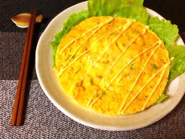チーズ柚子胡椒のレンチンチキンオムレツ(糖質3.3g)