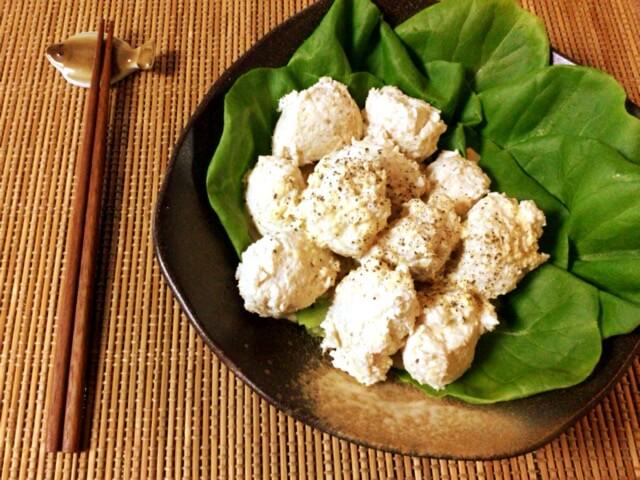 刻み生姜の柔らか黒酢蜂蜜マヨ鶏団子(糖質8.6g)