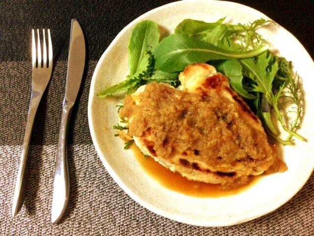鶏むね林檎シャリアピンバターステーキ(糖質7.0g)