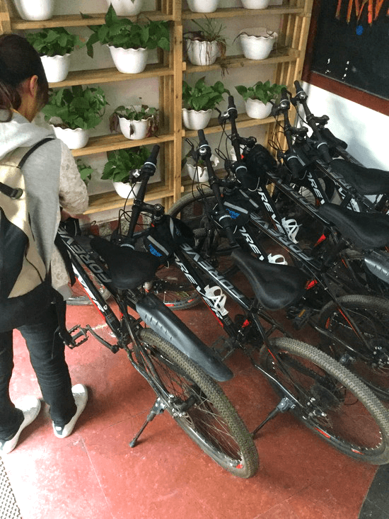 EASE HOTELのレンタル自転車
