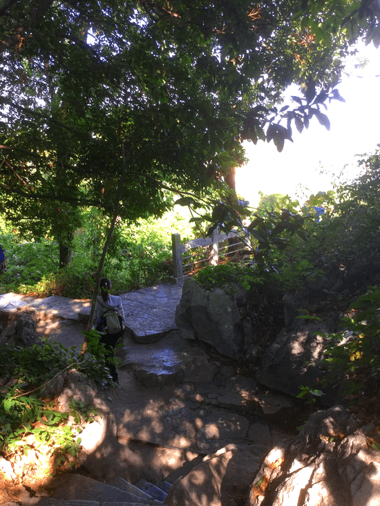 象山景区の悶絶山登り