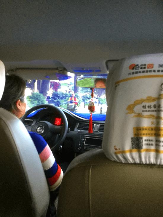 桂林のタクシー