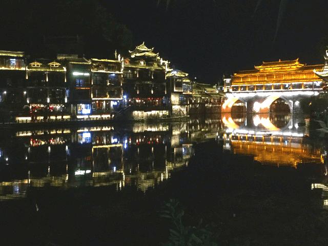 中国湖南省鳳凰の夜景