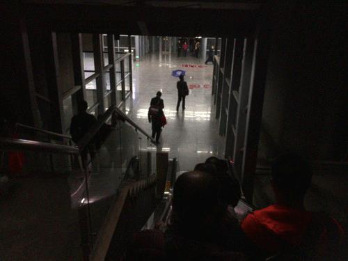 懐化南の駅構内