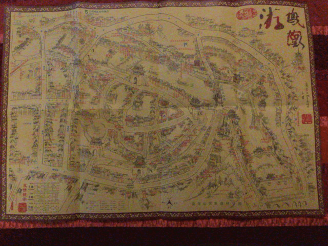 中国湖南省鳳凰の地図