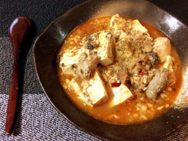 旨さ沁み込むサバ缶味噌バター麻婆豆腐(糖質6.4g)