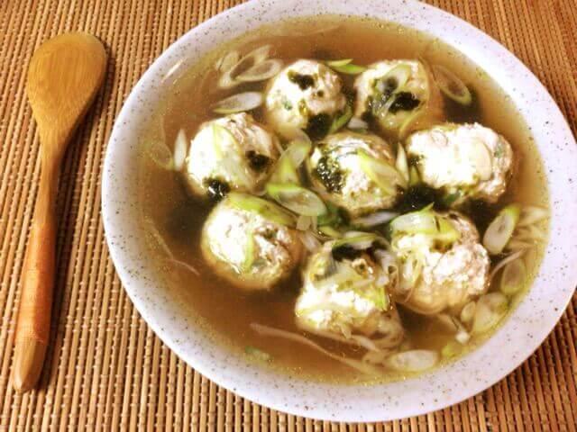 ネギ海苔柔らか鶏団子中華スープ(糖質8.5g)