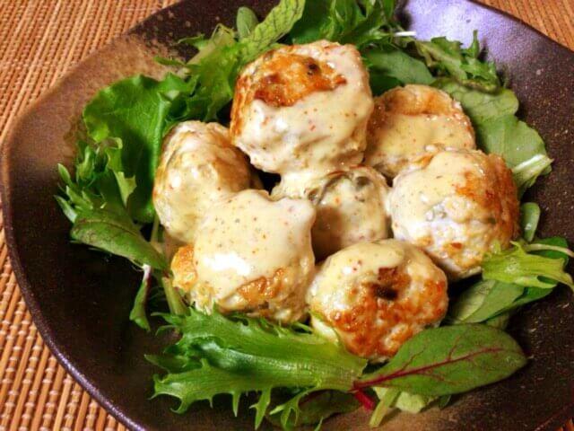 とろろチーズのマヨ柚子胡椒チキンボール(糖質4.0g)
