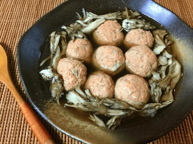 ふわり鮭キノコ団子の出汁柚子胡椒鍋(糖質6.0g)