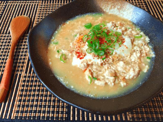風邪一撃ほんだし生姜チキン味噌納豆汁(糖質7.2g)