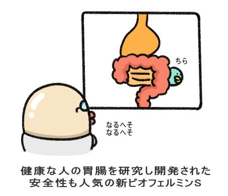 健康な人の胃腸を研究し開発された 安全性も人気の新ビオフェルミンS