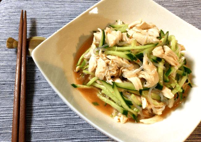 スイチリナンプラーのヤムウンセン風鶏サラダ(糖質7.2g)