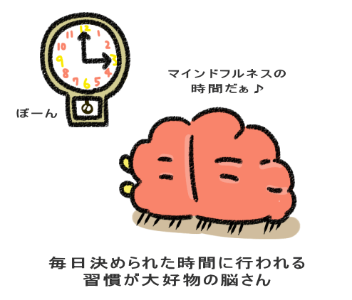 毎日決められた時間に行われる 習慣が大好物の脳さん