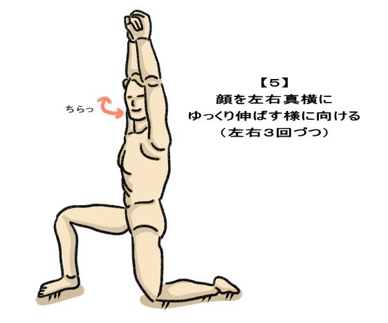 顔を左右真横に ゆっくり伸ばす様に向ける (左右3回づつ)