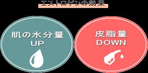 肌の水分量UP+皮脂量DOWN