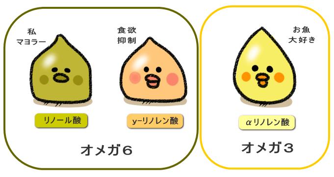 三種類の脂肪酸と効能
