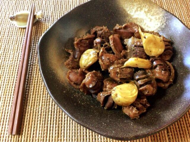 最高の柔らかさ。激簡単な砂肝白ワインのバクテー煮込み(糖質4.1g)