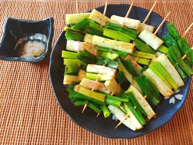 即消える蜂蜜山椒醤油の甘トロネギ串焼き(糖質6.2g)