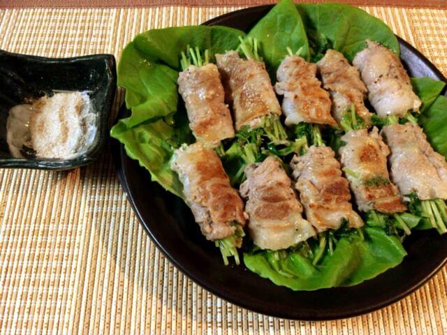 香り上る豚バラチーズ豆苗の大蒜クミン塩(糖質1.7g)