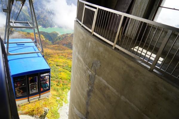 立山黒部アルペンルート|大観峰のロープウェイ