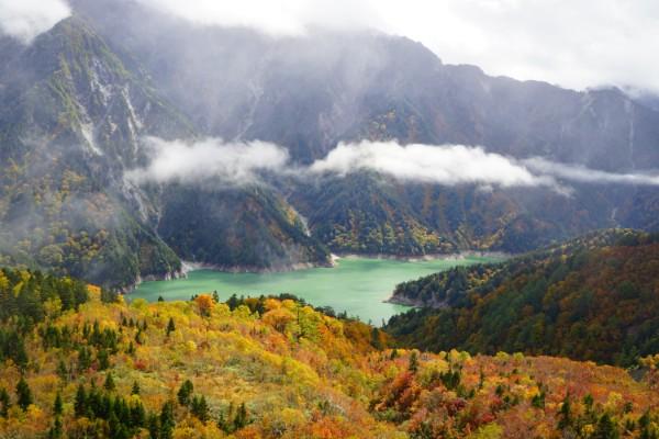 立山黒部アルペンルート|紅葉の大観峰と黒部湖