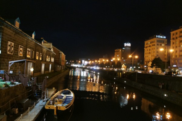 小樽|小樽運河の夜景