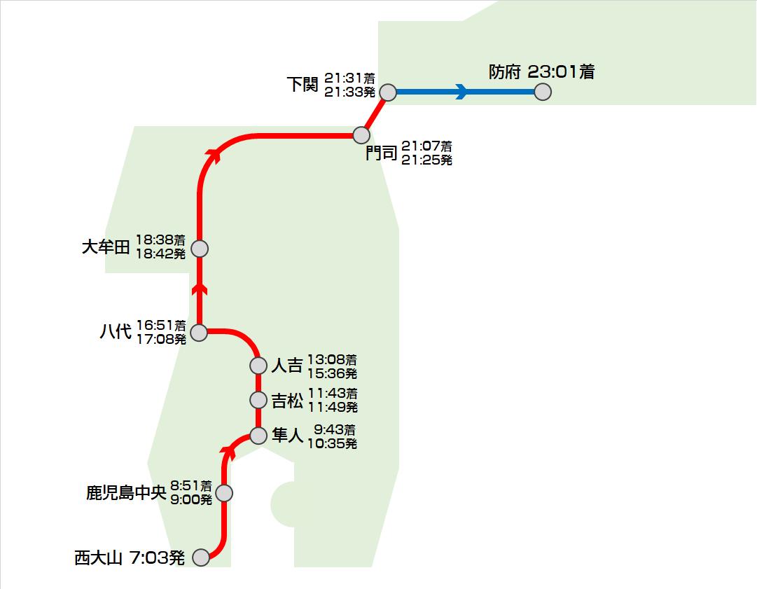 青春18きっぷと快活CLUBで日本縦断は可能かの画像