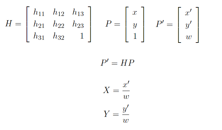 2つの平面(領域)間の対応をとる方法。(C#で射影変換) - ねののお庭。