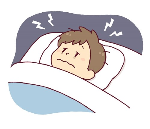寝つきが悪い男