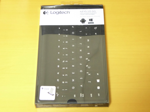 Logitech Keys-To-Go パッケージ表