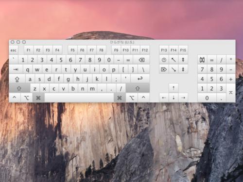 Mac(mini late2014) ソフトキーボード