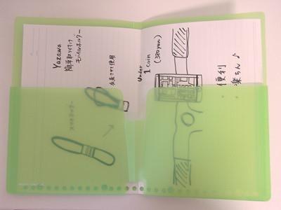 PILOT+LIHIT LAB. 持ち歩きフォルダー(A5) 書類を入れてみた