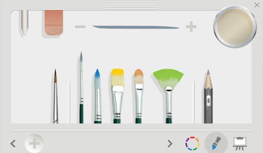 Surface Pro 4 FreshPaintで用意されている筆