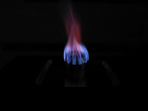 自作アルミ缶アルコールストーブ Aタイプ 燃焼時の炎