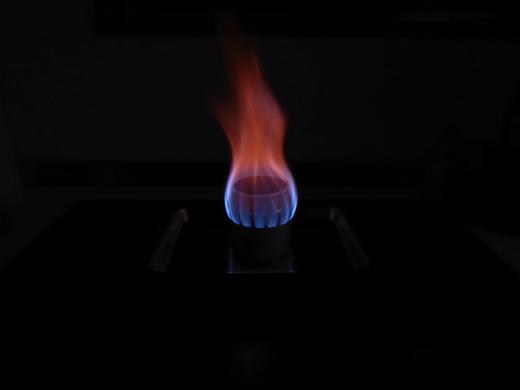 自作アルミ缶アルコールストーブ Bタイプ 燃焼時の炎