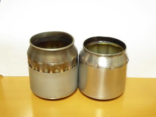 自作アルミ缶アルコールストーブ A、Bタイプ比較