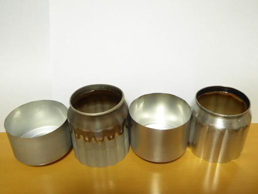 自作アルミ缶アルコールストーブ A、Bタイプ比較 その2