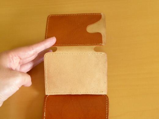財布 2つ折り コンチャ カード入れその2