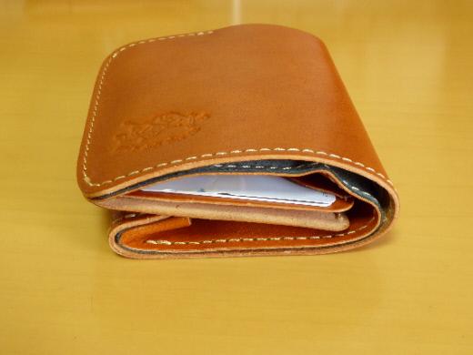 財布 2つ折り コンチャ 小銭を入れたところ