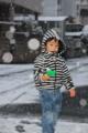 京都新聞写真コンテスト 元旦の雪遊び