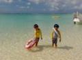 京都新聞写真コンテスト『白いビーチのカップル』