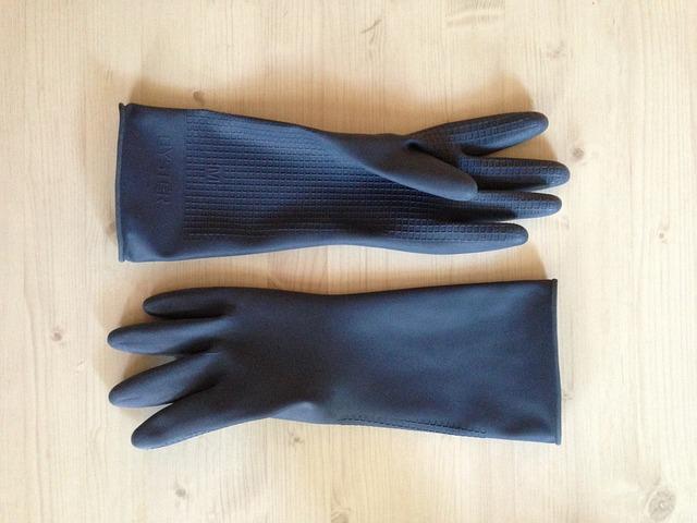 プリザーブドフラワーの作り方 ゴム手袋