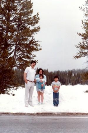 雪のユタ州