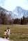 ヨセミテ国立公園ハーフドームを背にして