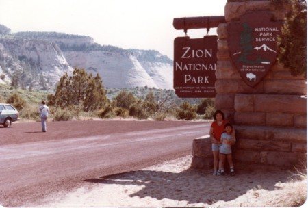ザイオン国立公園にて