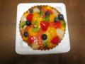 フルーツタルトのケーキ