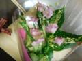 新聞屋さんからもらった花束