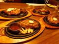 メインディッシュのリブロースステーキ